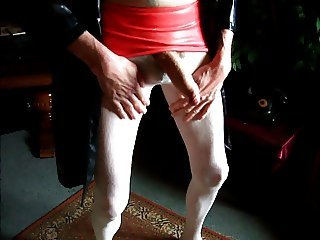 Latex Lack Strumpfhose und 20 cm