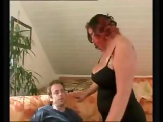 Man fucking one delicious chubby on the couch