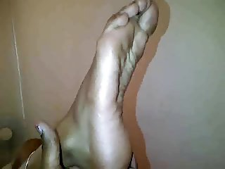 slender Indian feet