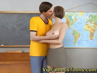 Mistress seduced her student