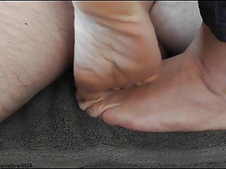 footjob trample