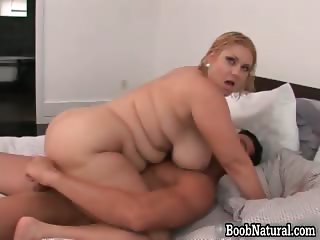 Horny blonde big boobed MILF slut part1