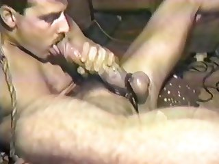 Vintage edger self sucker cock worship masturbation.