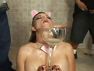 Bukkake Swallowing