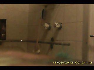 Spy Key chain camera in bathroom