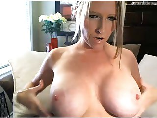 Milf Canadian plays with tits and pussy