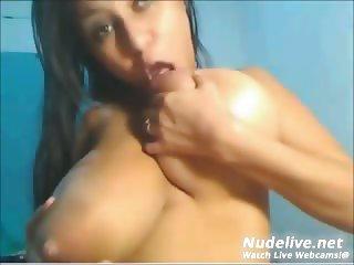 webcam masturbation super hot latina lactating herself 2