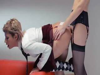 Neverending strap on girl4girl action