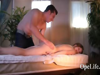 Hot massage for blond horny princess