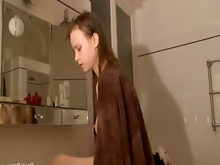 Petite 20yo russian taking a shower