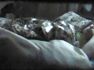 Masturbation under blanket