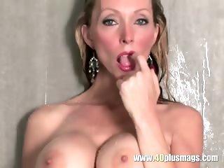Blonde milf with nice big tits