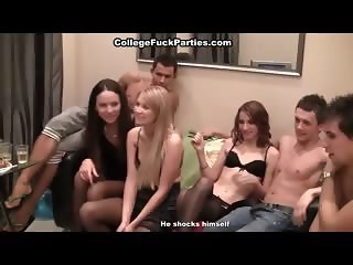 Orgy with Russian student in stockings