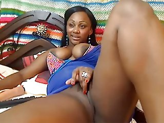 Webcam Young black girl teasing dancing