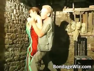 Brunette fuck dudes ass with strap part3