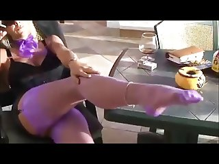Incredible Mature Leg and Foot Tease
