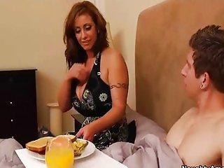 Eva Notty seduces son s friend at breakfast