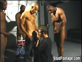 Hot black guys destroys white butt