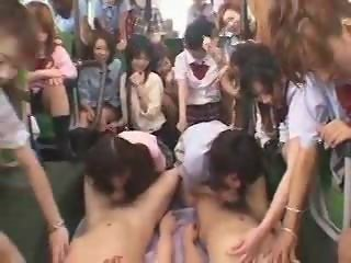 Luckiest guy ever Japanese Schoolbus part 3