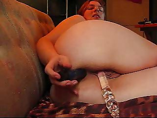 Chubby Girl Double Stuffs Herself