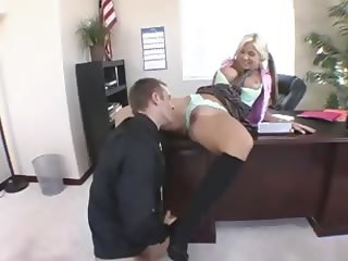 fetching blonde fucks with the Director