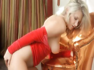 Red panties and brutal boobs from france