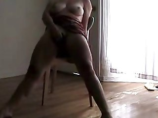 Mastubation Orgasm Squirting on the chair