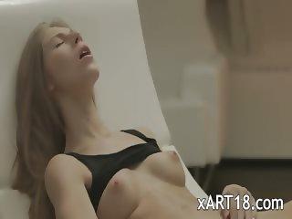 Exquisite blonde babe Anjelica undress