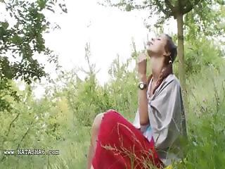 natasha back to nature with her hole
