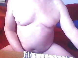 German Dad wank cum on cam