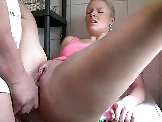 German Slut Fucked In The Ass
