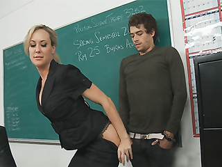 Horny teacher fuck her stud