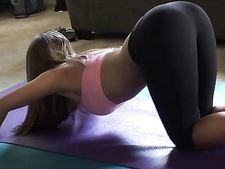 Beautiful Fitness Girl Giving Head